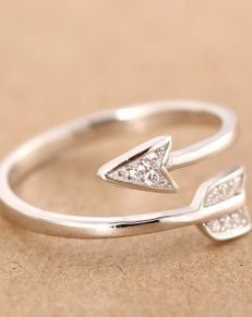 Silver Plated Arrow Crystal Ring 231x291 - Silver Plated Arrow Crystal Ring - MillennialShoppe.com | for Millennials
