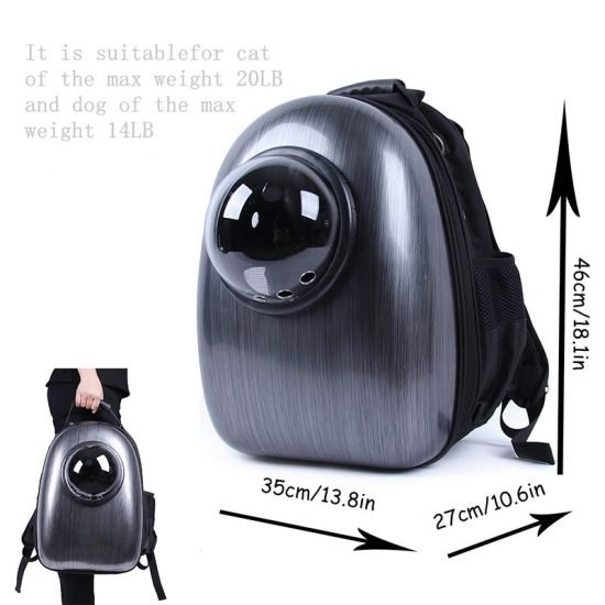 Cat Bag Space Capsule Pet Cat Backpack for Kitty Puppy Chihuahua Small Dog Carrier Crate Outdoor 2 550x550 - Capsule Cat Carrier - MillennialShoppe.com | for Millennials