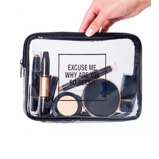 Mihawk PVC Transparent Mini Cosmetic Organizer Bag Waterproof Clear Pouch Makeup Bags Cosmetic Beauty Accessories Supply 3 550x550 - Transparent Make Up Bag - MillennialShoppe.com | for Millennials