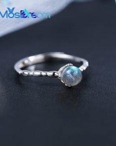 MosDream Moonstone Blue Moon Light Elegant Rings S925 Silver Female Gemstone Finger Ring Bands For Women 231x291 - Blue Moon Light Ring - MillennialShoppe.com | for Millennials