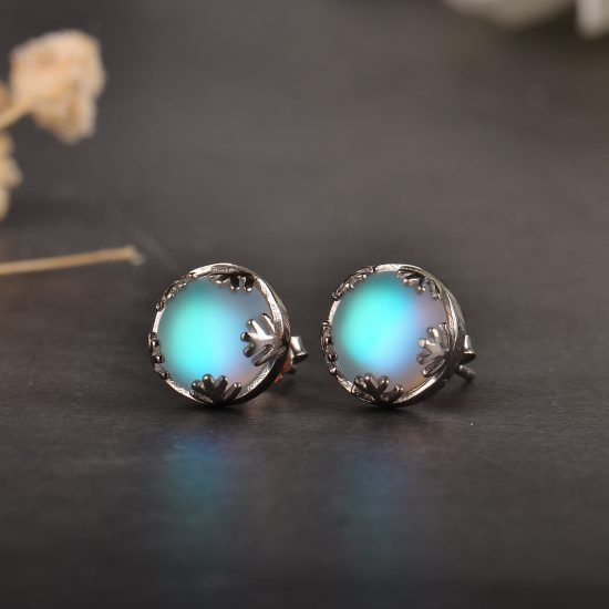 Moonlight Ladies Fashion Aurora Borealis Earrings s925 Silver Stud Elegant Jewelry Birthdays Romatic Gift for Women 4 550x550 - Aurora Borealis Earrings S925 Silver - MillennialShoppe.com | for Millennials