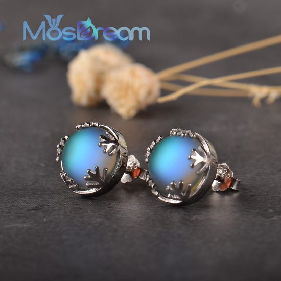 Moonlight Ladies Fashion Aurora Borealis Earrings s925 Silver Stud Elegant Jewelry Birthdays Romatic Gift for Women 550x550 - Aurora Borealis Earrings S925 Silver - MillennialShoppe.com | for Millennials