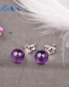 MosDream Amethyst Earrings S925 Silver Lovely Elegant Stud Earring for Women Natural Gemstone Magical Lucky Jewelry 231x291 - Amethyst Earrings S925 Silver - MillennialShoppe.com | for Millennials
